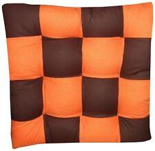 4 Coussins Galette Dessus de chaise Marron/Orange