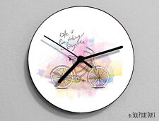 Life is Like a riding a bicycle Quote Wall Clock