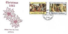 ANTIGUA 1982 FIRST DAY COVER , CHRISTMAS