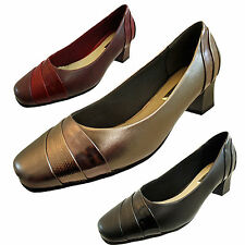 Unbranded Block Wide (EE) Court Shoes for Women