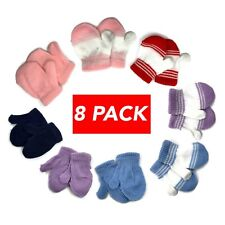 8 PACK Cute Infant Baby Kid Thicken Mittens Finger Gloves Warm Winter Toddler