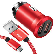 Samsung Galaxy S6 S7 Edge Note 4 5 USB Car Charger Adapter Plug +Micro USB Cable