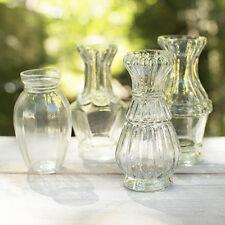 Vintage Style Glass Luncheon Vases~Set of 4~Farmhouse Wedding Decor