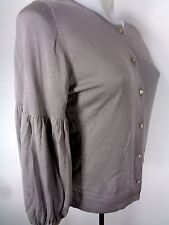 The Limited Cardigan Sweater Size M Gray Career Preppy