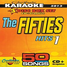 Karaoke CD+G 3 Disc Chartbuster 5013 The Fifties-1 Hits in Case with Song List