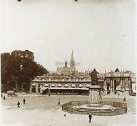 Nancy Place Stanislas Francia Foto Stereo PL52P4n Placca Da Lente Vintage
