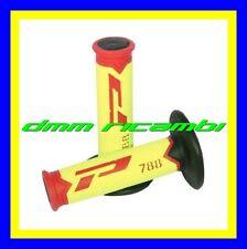 Manopole Cross PROGRIP 788 Moto Scooter PitBike Enduro Motard Giallo Rosso Nero