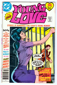 YOUNG LOVE #124 in FN/VF a 1977 Bronze Age DC comic Woman Behind Bars prisoner