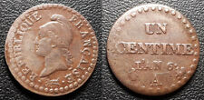 France - Directoire - 1 centime Dupré l'an 6 A, Paris 53/36 rare !! - F.100/6