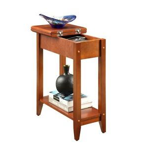 Convenience Concepts American Heritage Flip Top End Table, Cherry - 7105059CH