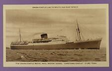 Union-Castle Royal Mail Motor Vessel Capetown Castle - Vintage Unused Stock P/C