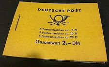 Deutsche Post GERMANY Unused New LOT of ( 3 ) STAMP Booklets VINTAGE Rare STAMPS