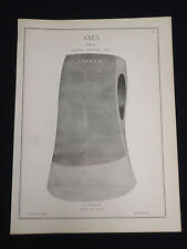 Vintage London Axes 1880-90's Hobbs Hardware Catalog Page HHF