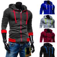 2018 Men's Outwear Sweater Winter Hoodie Warm Coat Jacket Slim Hooded Sweatshirt