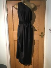 Kevan Jon Black Toga Dress Size M Belted