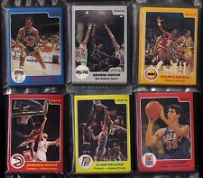 1983-84, 1984-85 Star 6 team sets LOT (Sampson/Gervin/Wilkins) SEALED BAG SETS!