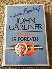 James Bond DEATH IS FOREVER Large Print by John Gardner