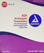 """Bzk Antiseptic Gentle Skin Cleansing Towlettes, 100 Packaged Towlettes, 5""""X 7"""""""