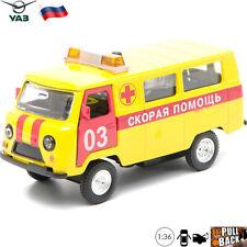 Diecast Vehicles Scale 1:36 UAZ 39652 Russian Reanimation Ambulance Model Car