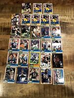 Classic New York Giants 28 card lot Lawrence Taylor Carl Banks