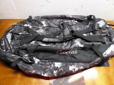 Cabela's Large Black Camo Duffel bag hunting travel New No Tags Packs into small