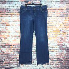 Mossimo Womens Size 17 Juniors Bootcut Dark Wash Denim Jeans