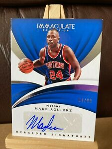 MARK AGUIRRE NBA 2017-18 IMMACULATE HERALDED SIGNATURE #04/99 (PISTONS,CLIPPERS)
