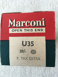Marconi U35 Valve. Used. Tested.