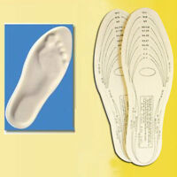 Pair Memory Foam Insoles Shoe Unisex 1 Size Fit Most Cushion Foot Pad Heel Shock