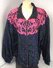 EUC Vintage 90s Westbound II Sport Full Zip Windbreaker Jacket 2x PLUS Blue Pink