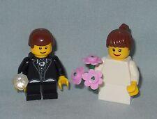 ***NEW LEGO WEDDING BRUNETTE FLOWER GIRL AND RING BEARER MINIFIGURES,MINIFIGS***