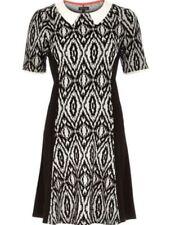 Short Sleeve Skater Casual Geometric Dresses for Women