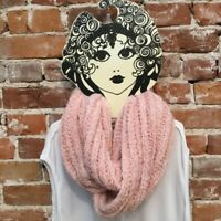 INC Blush Pink Chenille Textured Loop Fashion Soft Infinity Scarf O/S New