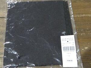 NWT Salvatore Ferragamo Solid Black Silk Pocket Square $140 Italy
