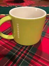 STARBUCKS•• Lime Green•2012••Coffee/Tea/Mug/Cup