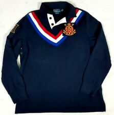 New listing #281 POLO Ralph Lauren Embroidered Rugby Shirt Mens Large Snow Challenge Cup