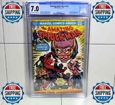 """AMAZING SPIDER-MAN #138 CGC 7.0 11/74🌟""""MADNESS MEANS THE MINDWORM""""🌟FREE SHIP"""