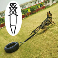 Dogs Weight Pulling Sledding Harness X-back Black Large Style Neck For 31.5''