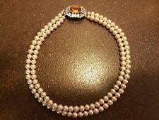 Vintage 2 Strand Imitation Pearls Necklace