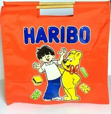 Haribo Candy Themed Red Tote Bag Unique Haribo Bear Boy Blue Logo Wood Handle
