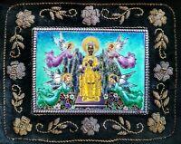 Plaque en argent massif émaillé orfèvre Masriera y Carreras Vierge de Montserrat