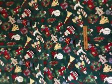 Cotton Fabric~BUTTONED UP FOR CHRISTMAS~54x44+Remn~Alexander Henry 1994