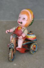 Vintage Wind Up Suzuki TS - 753 Litho Tricycle Tin Toy , Japan