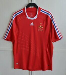 FRANCE NATIONAL TEAM 2008/2009 AWAY FOOTBALL SHIRT JERSEY MAILLOT ADIDAS SIZE L