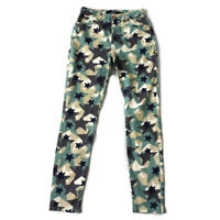 NEW BNWT Boden Size 8R Green Blue Camouflage Star Print Jeans Trousers Womens