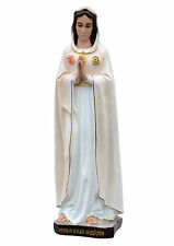 Our Lady of Rosa Mystica resin statue cm. 70 with glass eyes