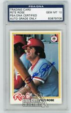 Pete Rose 1978 Topps Autographed Auto Card - Psa/Dna Gem Mt 10
