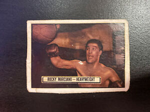 1951 TOPPS Ringside Rocky Marciano Rookie Card RC RARE