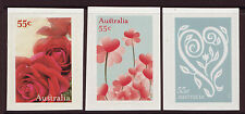 "AUSTRALIA 2009 ""WITH LOVE"" SELF ADHESIVE SET OF 3 UNMOUNTED MINT, MNH"