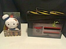 Ghostbusters Lot Ghost Trap Tin Box & Burnt Stay Puft Marshmallow Man itty bitty